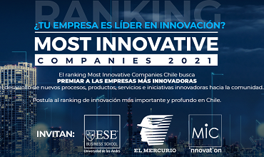 Inscripción Ranking Most Innovative Companies Chile 2021